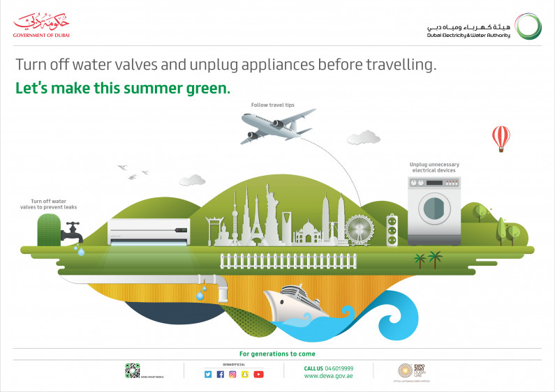 DEWA urges customers to follow safety tips before travelling