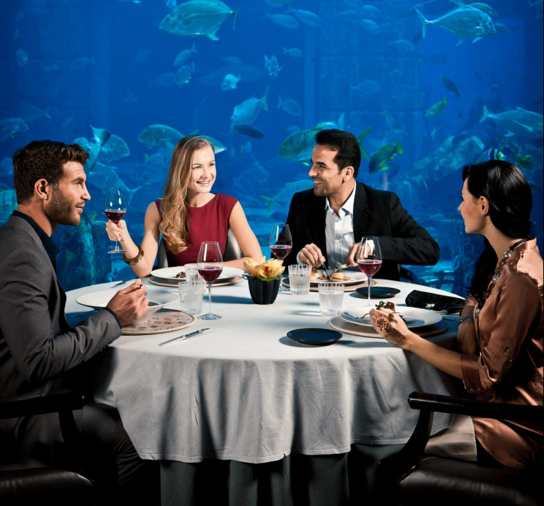 Atlantis, The Palm's award winning underwater restaurant takes Saturday lunching to another level