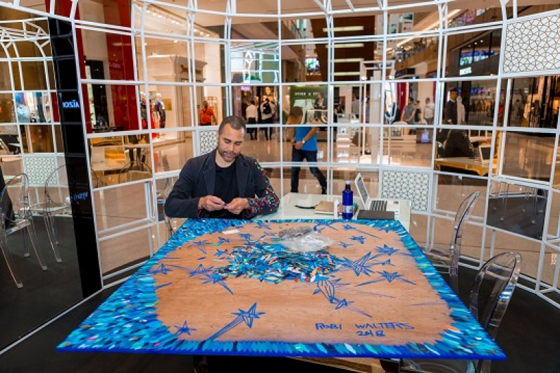 The Dubai Mall partners with Emirates Autism Society to host a silent auction for a one-of-a-kind artwork by acclaimed artist Robi Walters