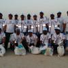 L&T employees clean Mamzar Beach