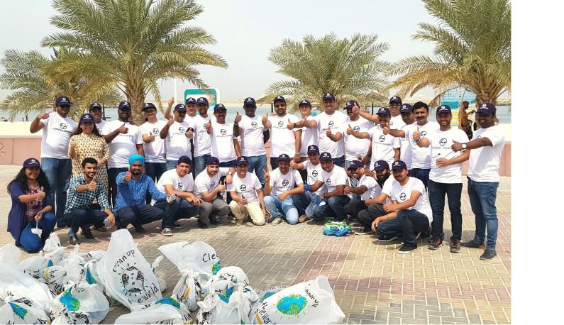 L&T staff clean Mamzar Beach