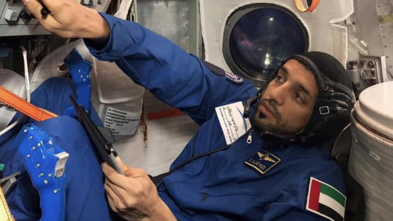 UAE in Space- UAE AstronautHazzaa Al Mansoori to Land in  Space Today