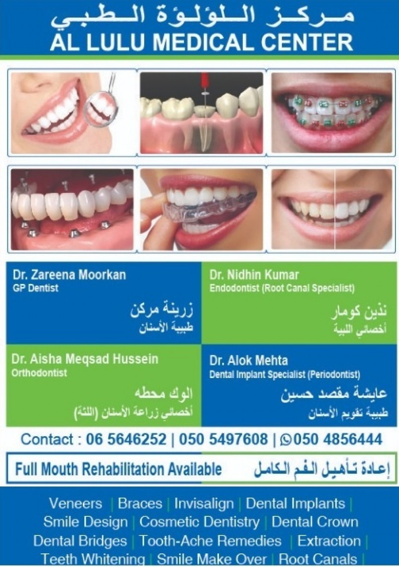 Free Dental, Orthodontic, Periodontic and Endodontic Check-up in Al Lulu Medical Center Sharjah