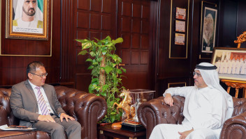 Chairman of Suqia Board of Trustees Receives Singaporean Consul General